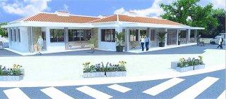 観光利便性向上施設整備事業のテナント施設のパース(石垣市都市建設課提供)