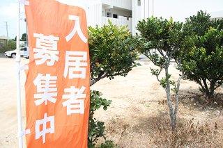 アパートの供給過多となり、新築アパートでも入居者確保が難しくなっている=15日午後、石垣市内