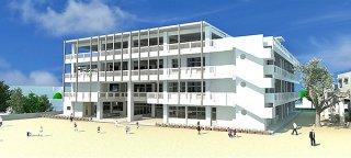 石垣小学校新校舎のパース図(石垣市教育委員会提供)