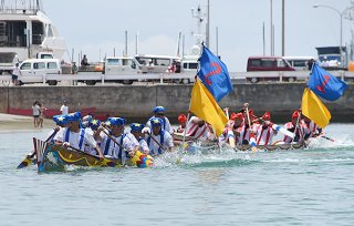 石垣市爬龍船競漕大会の2年連続中止が決定した(資料写真)