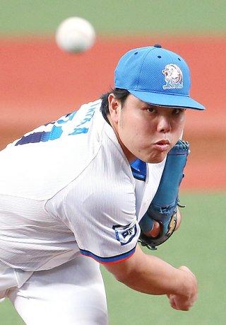 県勢として初めて五輪日本代表に選出された平良海馬=13日、メットライフドーム