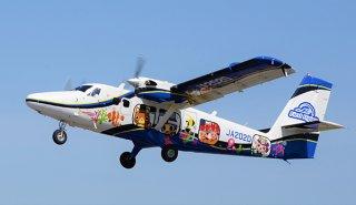 21日から那覇―粟国航空路線が再開の予定。使用されるDHC6―400型(第一航空提供)